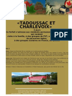 Tadoussac et Charlevoix.