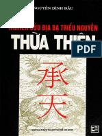 Địa chí Thừa Thiên - Nguyễn Đình Đầu