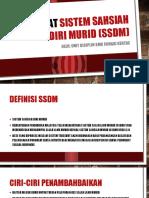 Taklimat Sistem Sahsiah Diri Murid (Ssdm)