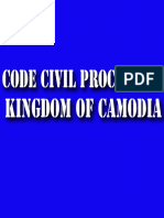 The Code of Civil Procedure of the Kingdom of Cambodia