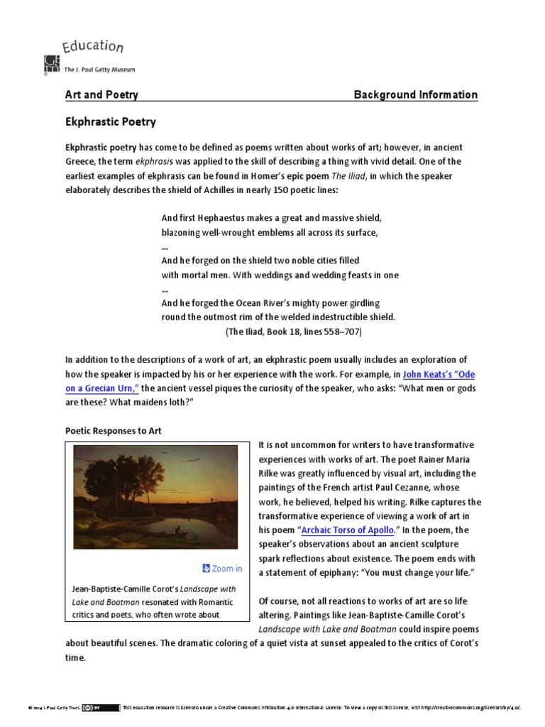 Ekphrastic Poems Examples 2
