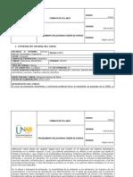Syllabus Del Curso Planeación Alimentaria y Nutricional