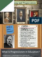 John Dewey and Prossivism Powerpoint