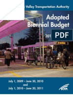 VTA's FY 2010-2011 Approved Budget