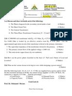 قوي وآلات كهربائيه 3 ت نموذج اجابة 12-2013