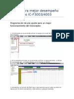 Ajuste Para Mejor Desempenio Del Radios IC-F3003-4003