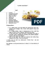 5 recetas en ingles y espanol