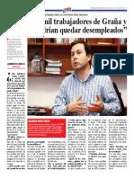 """""""Más de 30 mil trabajadores de Graña y Montero podrían quedar desempleados"""""""