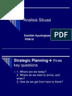 4.Analisis Situasi, FKK-SWOT FIK