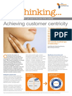 Free Thinking Achieving Customer Centricity Using Immersion Techniques to Get Closer to the Pulse of the Customer