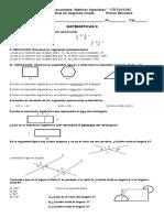 Examen Bimestral de Segundo Grado Primer Bimestre
