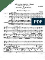 Schumann - Wenn Ich Ein Vöglein Wär