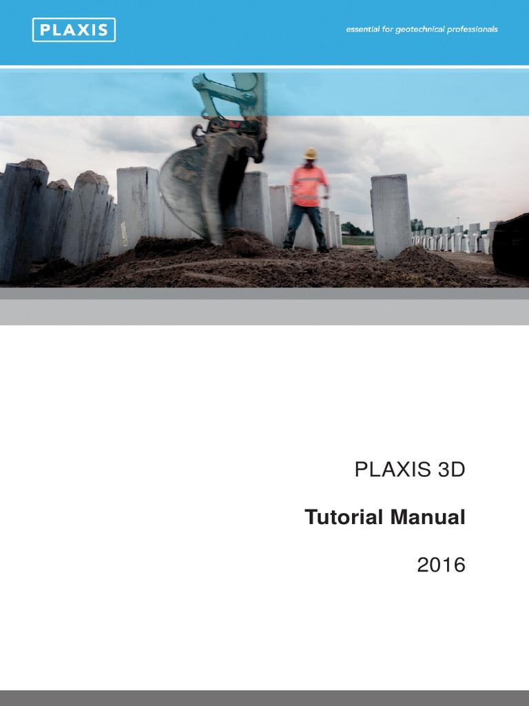 plaxis 3d tutorial manual 2016 button computing finite element rh pt scribd com Mini Book Tutorial Gatefold Card Tutorial