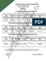 b Pharmacy II-II, III-II, IV-II , Mid 2 Time Table Feb-2016