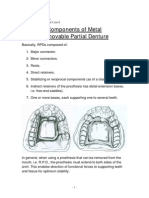 Removable Prosthodontics II - Lec.6, Metal RPD Components - SIUST, College of Dentisty