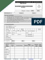 BUET Employment Form(Faculty).pdf