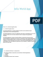 Parts of HelloWorld Application