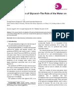 Hydrochlorination of Glycerol--The Role