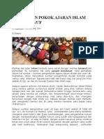 Perbedaan Pokok Ajaran Islam Dan Tasawuf