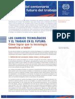 OIT 1LOS CAMBIOS TECNOLÓGICOS Y EL TRABAJO EN EL FUTURO