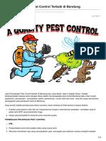 Jasa Perusahaan Pest Control Terbaik Di Bandung - 0813 2245 3138