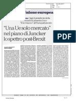 Una UE Solo Mercato, Nel Piano Di Juncker Lo Spettro Post-Brexit