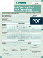 Account Opening Form for Non Individuals IDBI