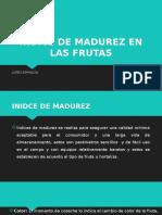 Indice de Madurez en Las Frutas