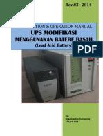 Installation & Operation Manual UPS Modifikasi Dengan Batere Basah