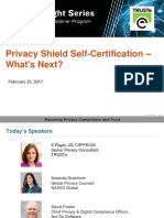 Privacy Shield Self-Certification | Privacy Insight Series Webinar
