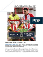 Prediksi Sevilla vs Athletic Club 3 Maret 2017