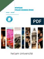 Bilan scientifique du programme Paris Nouveaux Mondes (PNM) 2012 - 2016