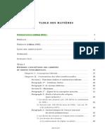 Table Des Matiers