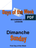 Days of Week Slides