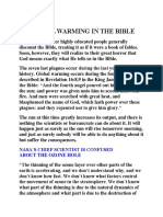 Global Warming in the Bible