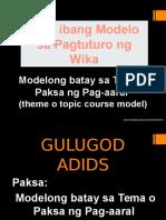 Modelo Batay Sa Tema o Paksa Ng Pag-Aaral (2)