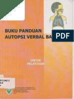 Buku Panduan Autopsi Verbal Balita 2007