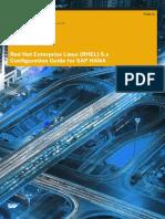 Red Hat Enterprise Linux RHEL 6 x Configuration Guide for SAP HANA