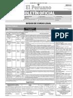 Diario Oficial El Peruano, Edición 9621. 01 de marzo de 2017
