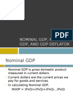 Nominal GDP, Real GDP, And GDP
