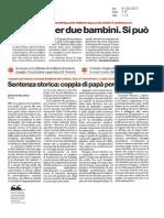 Sentenza di Trento. Rassegna stampa del 01.03.17