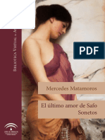 Matamoros, Mercedes - El último amor de Safo