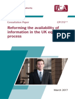 FCA Consultation Paper on IPO Process Cp17-05