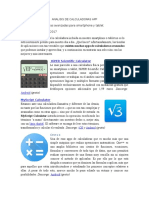 Analisis de Calculadoras App