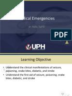 Lecture Medical Emergencies
