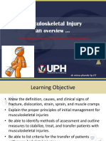 Lecture Musculoskeletal Injury