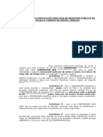 Contrato de Venda e Compra Artigo 108 Do CC (Modelo)