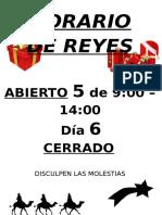 Horario de REYES