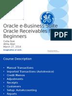 Oracle Application AR Beginners