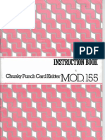 SINGER MOD.155 CHUNKY PUNCH CARD KNITTING MACHINE  Instruction Book